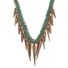 I love the STEPHAN & CO. Spike Necklace from LittleBlackBag gard fashion, jewelri showcas