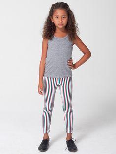 American Apparel - Kids Printed Nylon Tricot Legging