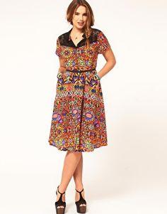 Funky plus sized dress. dress