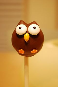 owl cake pops..yum...good idea for an owl birthday party theme