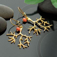 Coral branch earrings $29.00