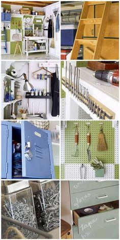 Cute garage organization!