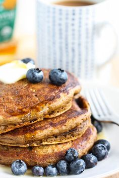 Coffee Pancakes @Jenna Nelson (Eat, Live, Run) from @Adri Douma Adarme / A Cozy Kitchen cookbook