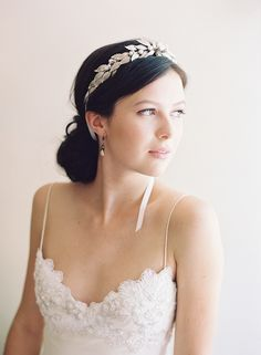 VENUS LAUREL LEAF ROMAN BRIDAL CROWN STYLE NO. 2027 Look at the fit of Sara Jank's gown. They are incredible!