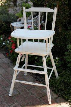 Shabby Chic Vintage High Chair --- new