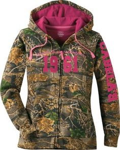 Cabela's Women's Varsity Full-Zip Hooded Print Sweatshirt, Women's Sweatshirts, Women's Tops, Women's Clothing, Clothing : Cabela's