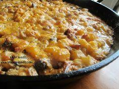 creamy sausage and potato skillet