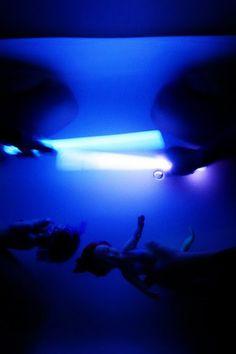 Glow sticks in the tub!