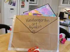 Top 5 Kindergarten Teaching Ideas this Week - Art portfolio from a grocery bag