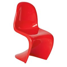 Curve one piece chair red