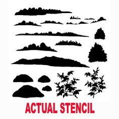 Cutting Edge Stencils - Landscape Elements Stencil.  $29.95. See more Fresco and Mural Stencils: http://www.cuttingedgestencils.com/wall-stencils-murals-oaks.html    #fresco #mural #stencils #cuttingedgestencils #stenciling #stencilpatterns
