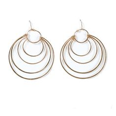 Gold Layered Hoop Earrings | Pigment - http://www.shoppigment.com/products/gold-layered-hoop-earrings