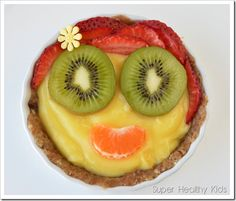 ur two ingredient, no-bake crust is loaded with healthy omega 3's!  Fill your crust with anything you want, but pudding and fruit tastes amazing! #omega3 #healthytreats #nocookmeals #fruittart