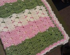 Light & Lacy Crochet Baby Blanket ~ free pattern