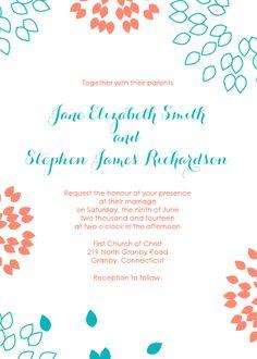Invit design invit word wedding invitations printabl invit summer