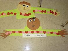 """Maybe use for parent valentines """"I love you this much"""" or as a measurement activity."""