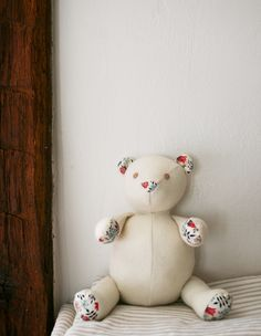 Molly's Sketchbook: Wool and Liberty Teddy Bear - The Purl Bee