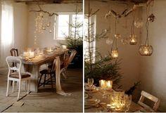 interior design, lantern, inspir interior, diy chandelier, window displays, christmas, lighting ideas, chandeli idea, branches