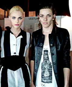 eric Voullosky and andrej pejic together in bridal week barcelona for Rosa Clara