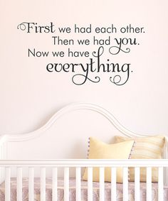 So cute!! new babies, famili, vinyl, kid photos, family rooms, wall quotes, nurseri, glass tiles, babies rooms