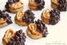 chocolate dipped peanut butter pretzel bites :)