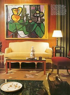 Apartment designed byJean Michael Frank for Nelson Rockefeller in 1937