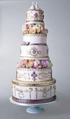 #5 Tier Cakes #wedding cake
