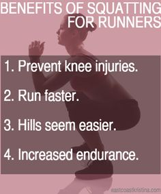 Benefits of Squatting for Runners #run #runner #running #fitness #motivation #quote #gym