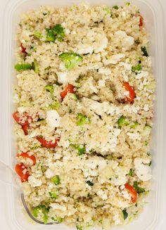 Quinoa, broccoli, and feta salad, Wholeliving.com #lunchbunch