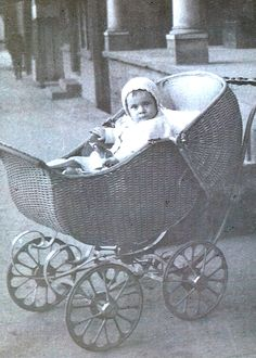 vintage photo baby buggy