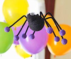 halloween decorations, craft day, halloween parties, halloween crafts, party crafts, dollar store crafts, spider craft, craft blogs, halloween diy