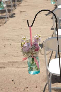 things brides love Mason Jar wedding reception decor centerpieces beach wedding