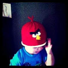 Free Angry Birds Hat Knitting Pattern