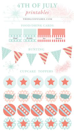 4th of July Printables | The Blissful Bee