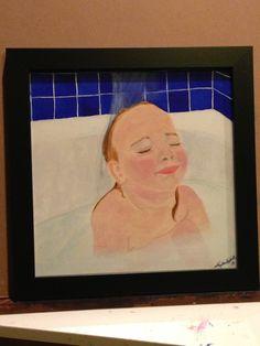 Warm Water acrylic 12x12 Kristen Haskell