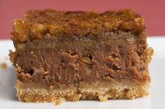 chocolate pecan cheesecake bars