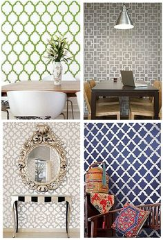 wall stencil patterns