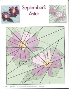 September's Aster - paper piecing pattern