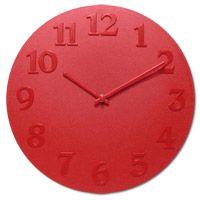 Vogue Red Wall Clock  http://www.retroplanet.com/PROD/32486
