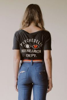 PSYCHEDELIC RESEARCH DEPT. // CROP T-BLK // last one!