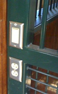 Built-in light switches and electric outlets for horse stall safety. Lucas Equine.