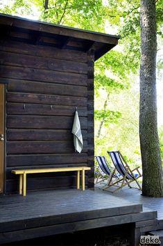cabin, garden patios, sauna