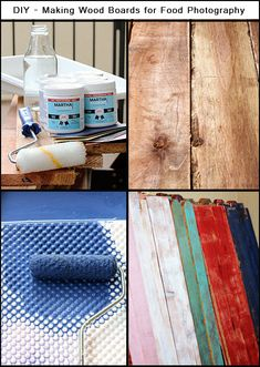 Easy way to make painted/aged wood boards