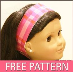 Sew American Girl Headband-