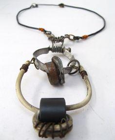 Found Object Necklace Industrial Recycled Junkyard Jewellery by urbandon