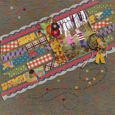 "Janet Scott's ""Fall into Autumn"" bundle.  Gorgeous!! https://www.pixelscrapper.com/janet-scott/kits/fall-into-autumn-bundle-doodles-illustrations-leaves-owl-buttons-lace-red-pink"