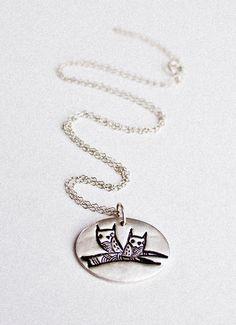 Twin Owls Necklace  Twin Necklace #Twin #Jewelry  by boygirlparty