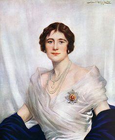 Coronation portrait of the Queen Mother by John Helier Lander