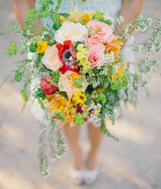 Bright rustic bouquet