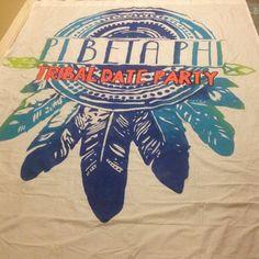 Pi Phi Tribal date party banner! #piphi #pibetaphi (MS Alpha)